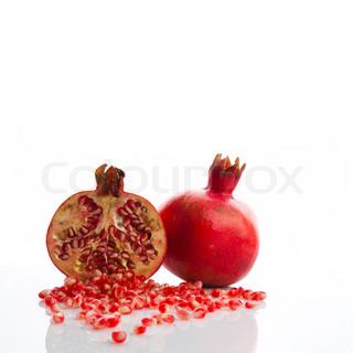 Billede af 'granatæble, skåret ud, sød'