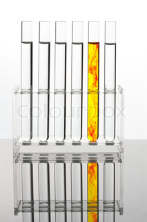 Test tubes in an attempt at a chemical laboratory