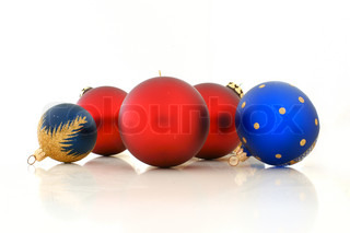 Christmas balls in various colors
