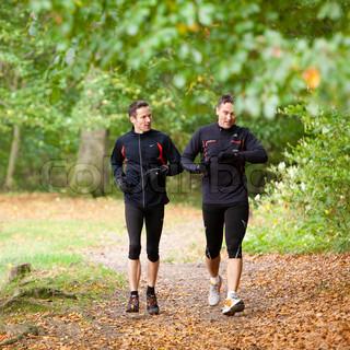 Friends jogging