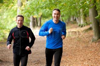 Billede af 'efterår, mænd, motionering'