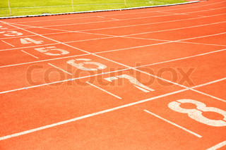 Running track for athletics