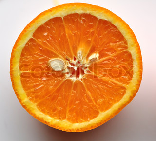 Orange fruit cross section