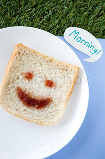 morning smiley bread