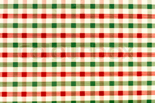 Seamless retro red and green squared fabric