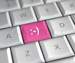 Billede af 'computere, tastatur, glad'