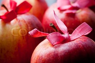 Billede af 'æble, makro, indretning'