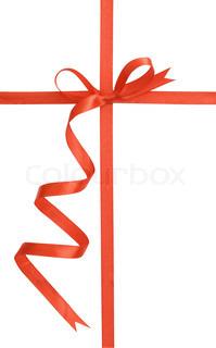 Rødt gavebånd bundet som en sløjfe