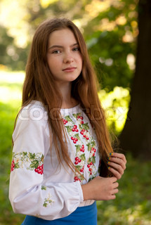14 Year Old Girl Stock Photo Colourbox