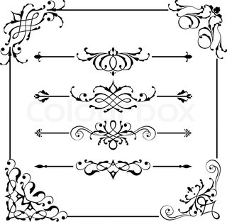 Vintage Vector Frame Border Divider Corner Vector 12124900 on at home web design jobs