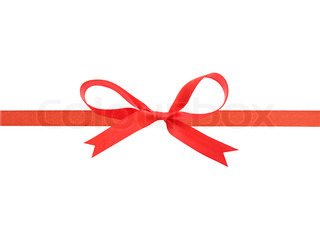 Beautiful red ribbon and bow