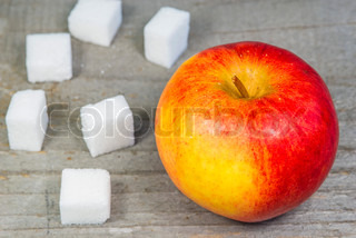 apple and lump sugar