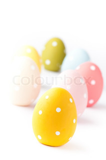Colorful Easter egg decorations
