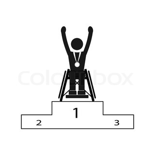 Disable Handicap Sport Paralympic Games Winner Figure Pictogram Icon Vector 12172319 on 2016 White Sprinter