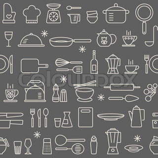 Kitchen Utensils Background kitchen utensils background | stock vector | colourbox