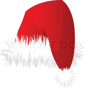 Christmas red santa hat illustration