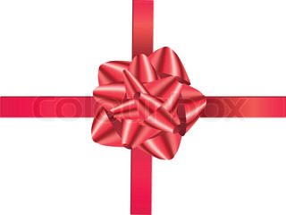 A decoration christmas red gift ribbon, endow, ruddy, submit, bow, satin, silk, july