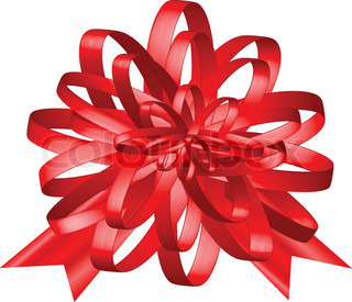 Christmas decoration red gift ribbon closeup, edow, ruddy, submit
