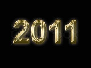 Vektor af 'nytår, guld tekst, januar'