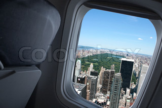 Airplane landing in NYC