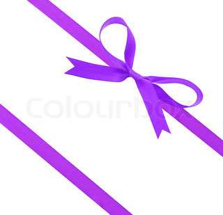 Purple  christmas ribbon and bow