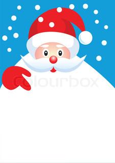 Happy christmas santa claus with copyspace