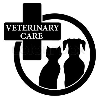 isolated black icon with veterinary care symbol