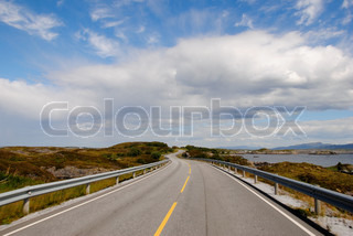 Image of 'road, nordic, landscape'