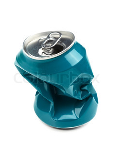Crushed drinking can