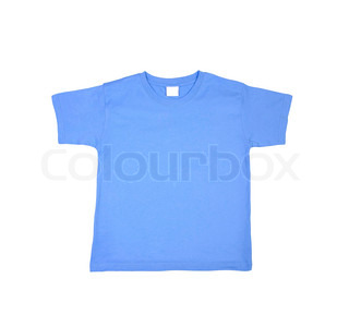 t-shirt isolated on white