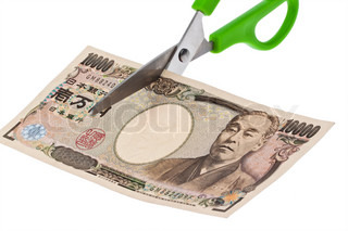 Japanese yen notes. Taxes and charges in Japan