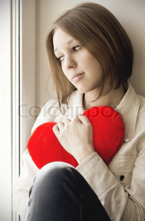 The girl is sad, sadness due the guy, keep heart