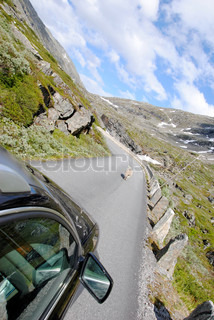 Image of 'norway, car, landscape'