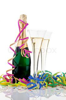 Billede af 'nytår, champagne glas, champagneglas'