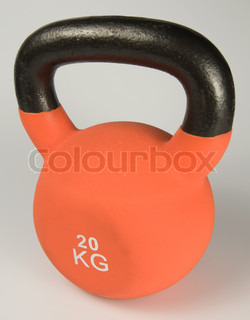 Image of 'kettle bell, orange, 20'