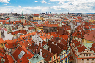 Prague spires  from above