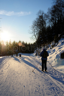 Image of 'norway, mountain road, winter'