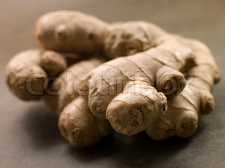 Close up of whole Stem of Ginger