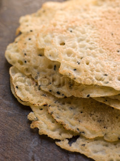 Close up image of Pile of Dosa