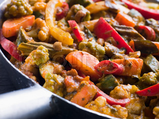 Pan von Sabzi Salan - Vegetable Curry