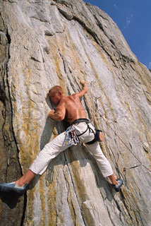 Image of 'action, free climbing, free climber'