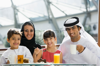 Image of 'family, meal, hijab'