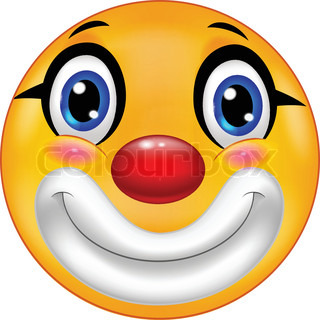 Clown emoticon cartoon