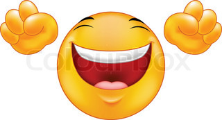 Happy smiling emoticon  cartoon