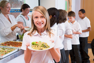 Image of 'school, lunch, lunch lady'