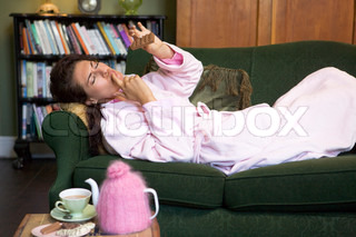 Image of 'eating, woman, night in'