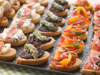 Platter of Selection of Crostini