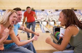 Image of 'bowling, sport, together'