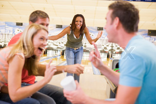 Image of 'bowling, couples, tenpin bowling'