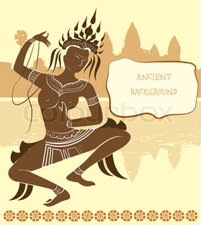 apsara ancient vector background